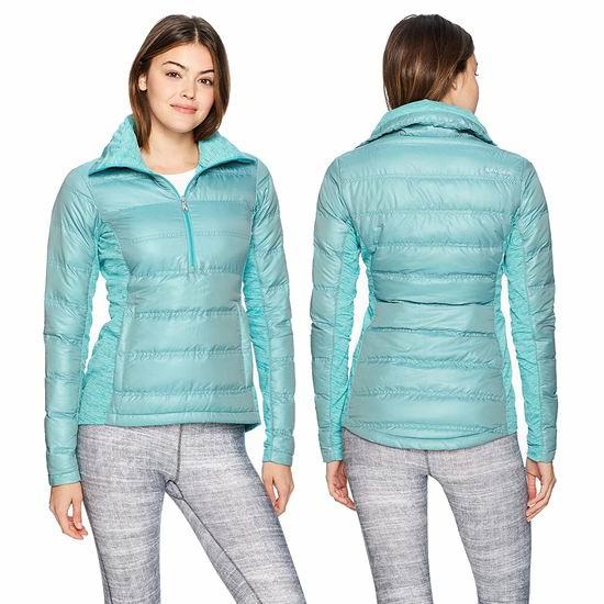 白菜速抢!Spyder Solitude 半拉链 女式时尚修身羽绒服1.8折 40.86加元起包邮!3色可选!