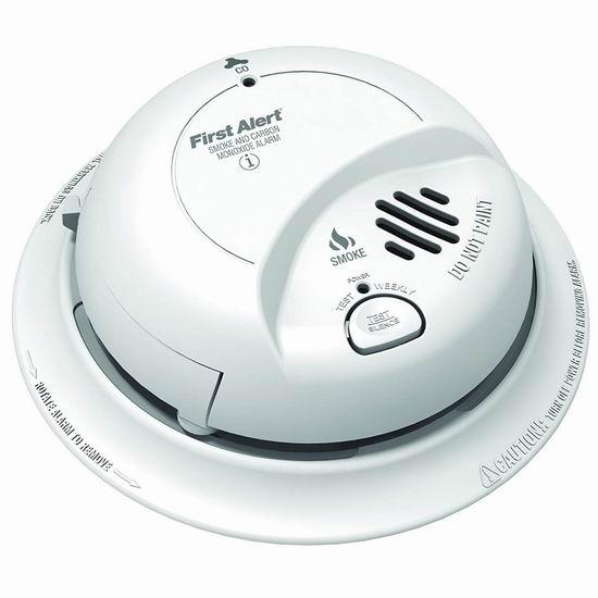 历史新低!First Alert SC9120BCA Hardwire 一氧化碳/烟雾 二合一探测报警器 40.96加元包邮!支持交流电+电池 双电源供电!