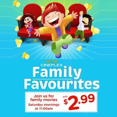 Cineplex 6-7月份合家欢电影安排,每周六仅需2.99加元!本周六上映冒险喜剧片《神奇乐园历险记》!