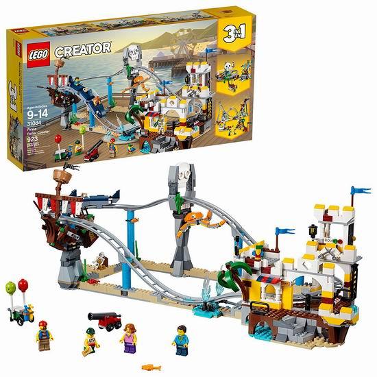 历史新低!LEGO 乐高 31084 创意百变系列 三合一 海盗过山车(923pcs)7.3折 79.98加元包邮!