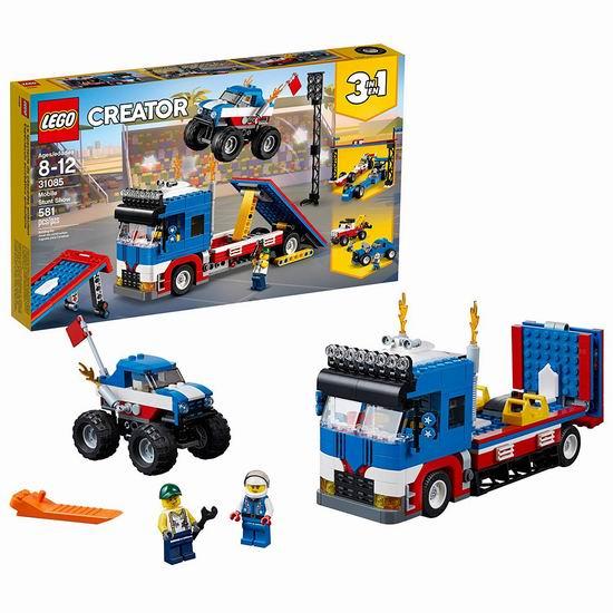 速抢!历史新低!LEGO 乐高 31085 创意百变系列 巡回特技表演(580pcs)4.9折 31.97加元清仓!