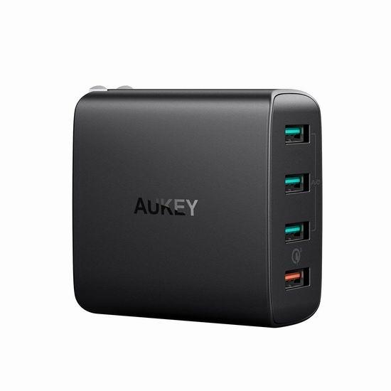 手慢无!历史新低!AUKEY Quick Charge 3.0 USB 4口 智能快速USB充电器 15.99加元清仓并包邮!