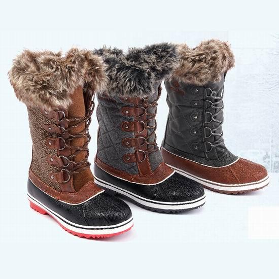 历史新低!DREAM PAIRS River 女式时尚中筒雪地靴 32.99加元包邮!16款可选!码齐全降价!