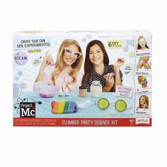 白菜价!历史新低!Project Mc2 Slumber Party 睡衣美妆派对 6合一科学套装2.3折 8.93加元清仓!