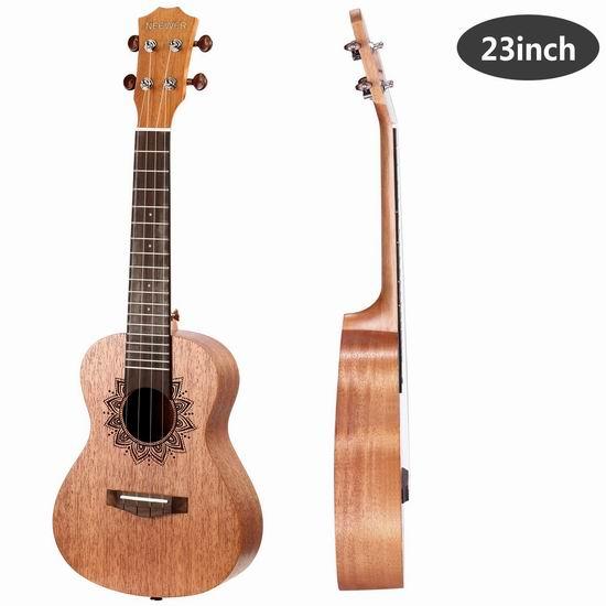 历史新低!Neewer 23寸 Ukulele 夏威夷小吉他/尤克里里 38.1加元限量特卖并包邮!4色可选!