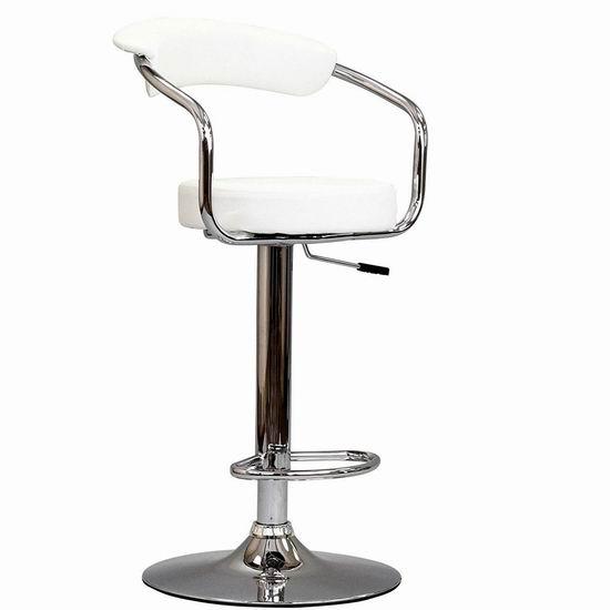 白菜价!历史新低!Modway Diner Bar 白色复古吧椅1.4折 39.79加元包邮!