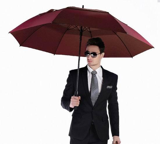 白菜价!Wal front 62英寸 超大双层防风自动雨伞 7.49加元清仓!