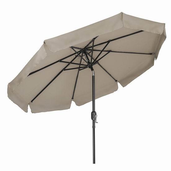 历史新低!Trademark Innovations 8英尺 可倾斜庭院遮阳伞1.9折 34.77加元清仓!