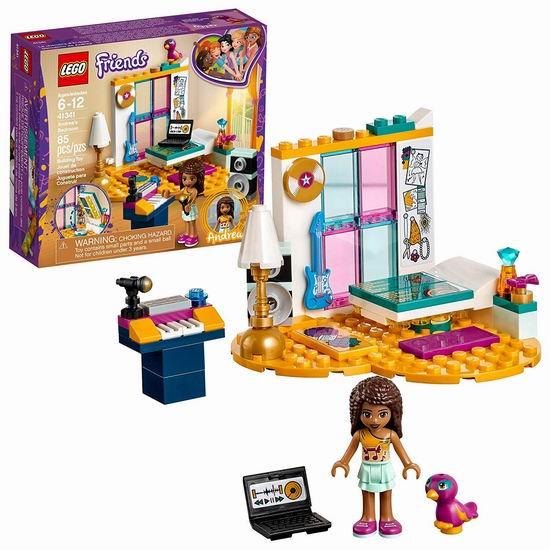 白菜价!历史新低!Lego 乐高 41341 好朋友系列 安德里亚的卧室(85pcs)4.6折 5.97加元!