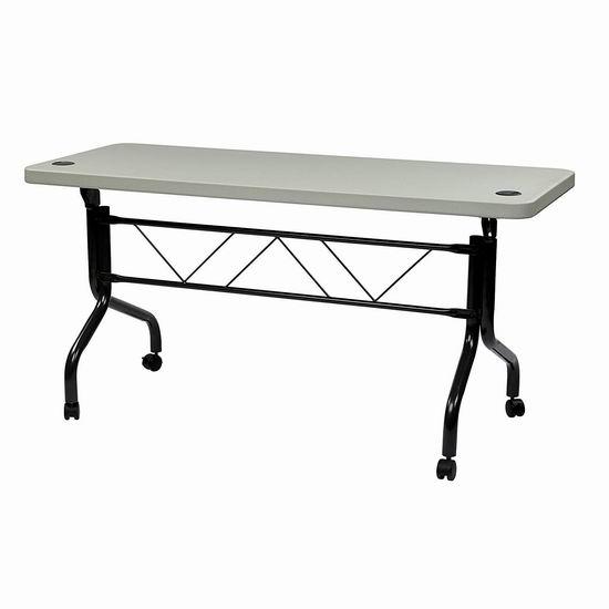 超级白菜!历史新低!Office Star Resin 5英尺 室内/室外 多用途树脂折叠桌2折 67.68加元包邮!