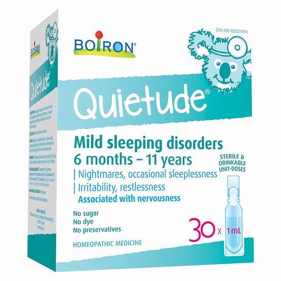 Boiron Quietude 天然顺势疗法 儿童助眠液30支 10.68加元!