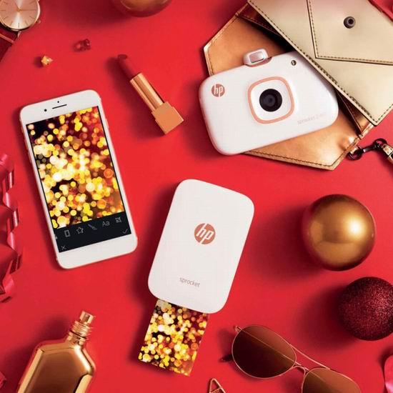 售价大降!历史新低!HP 惠普 Sprocket 小印 二合一手机口袋照片打印机/拍立得相机4.5折 99.99加元包邮!黑白2色可选!