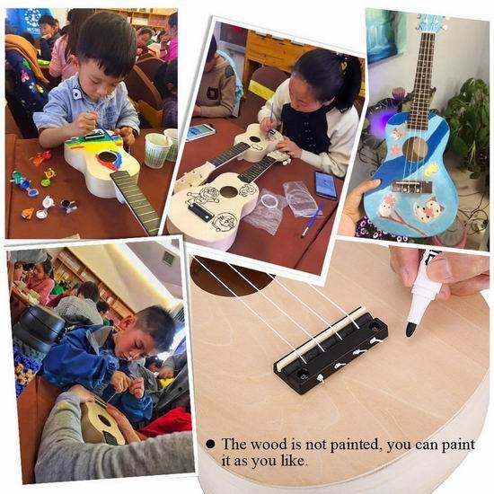 VGEBY 21英寸 Ukulele 夏威夷小吉他/尤克里里DIY套装 28.89加元限量特卖!