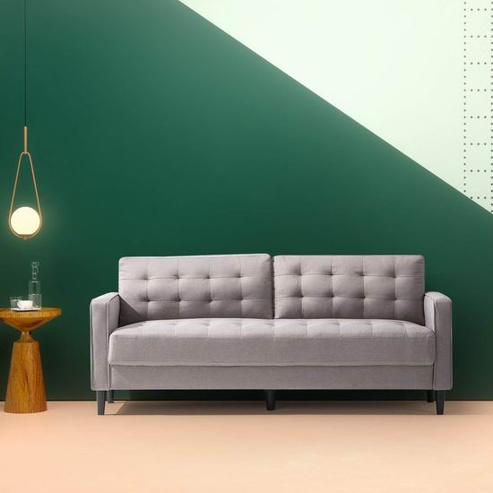 Zinus Mid-Century 中世纪风格 时尚双人布艺沙发3.1折 320.42加元特卖+包邮!