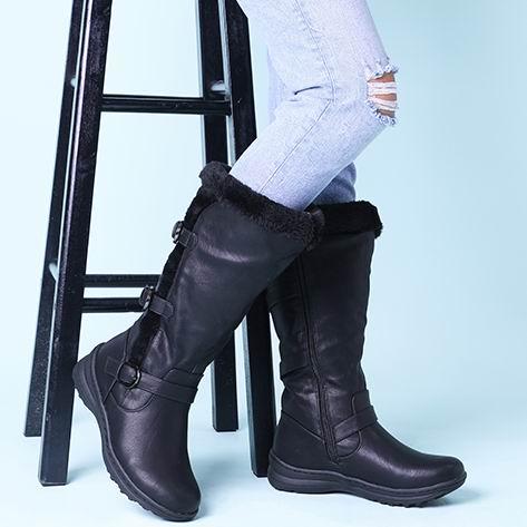 历史新低!DREAM PAIRS Fully Fur Lined 女式长筒靴 32.99加元包邮!8色可选!