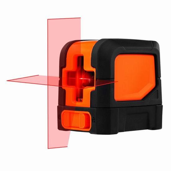 SUAOKI 33英尺 自动调平 360度交叉线 激光水平仪 33.99加元限量特卖并包邮!