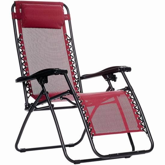 销量冠军!AmazonBasics 零重力躺椅3.8折 59.67加元包邮!午休神器!