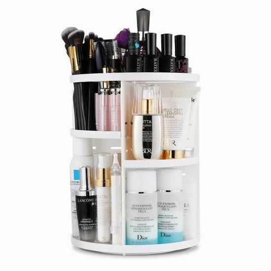 Jerrybox 360度旋转 化妆品收纳盒 23.99加元限量特卖!