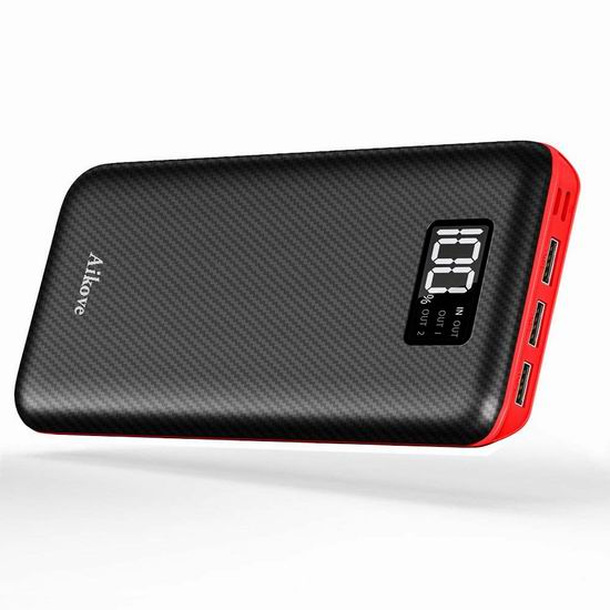 Aikove 24000mAh 便携式移动电源/充电宝 31.44加元限量特卖并包邮!