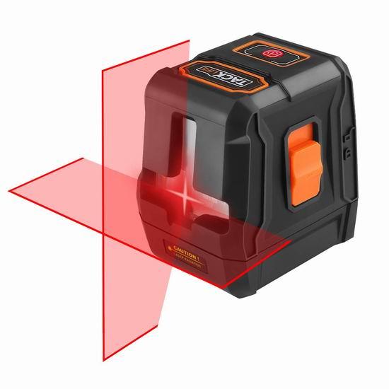 Tacklife SC-L07 50英尺 自动调平 360度交叉线 激光水平仪 33.97加元限量特卖并包邮!