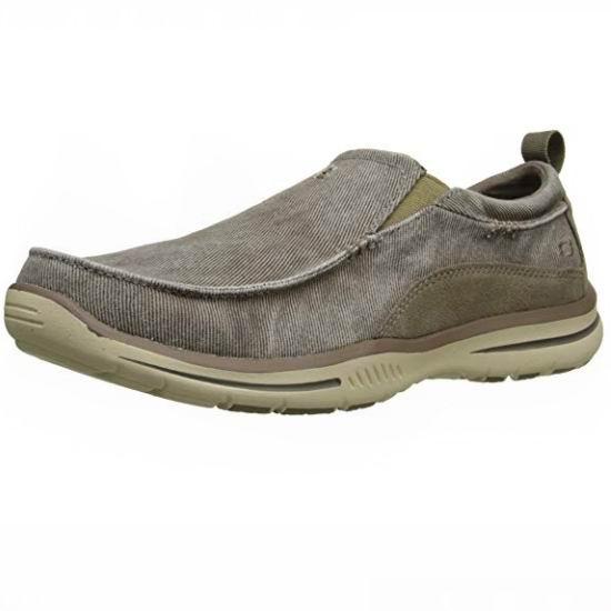 白菜价!Skechers 斯凯奇 Relaxed Fit 男式一脚蹬 帆布休闲鞋(6.5-8.5码)3折 25.35加元!2色可选!