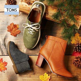 Toms 年终大促!精选成人儿童帆布鞋、雪地靴、保暖拖鞋等4.5折起+额外8折!折后低至3.6折!