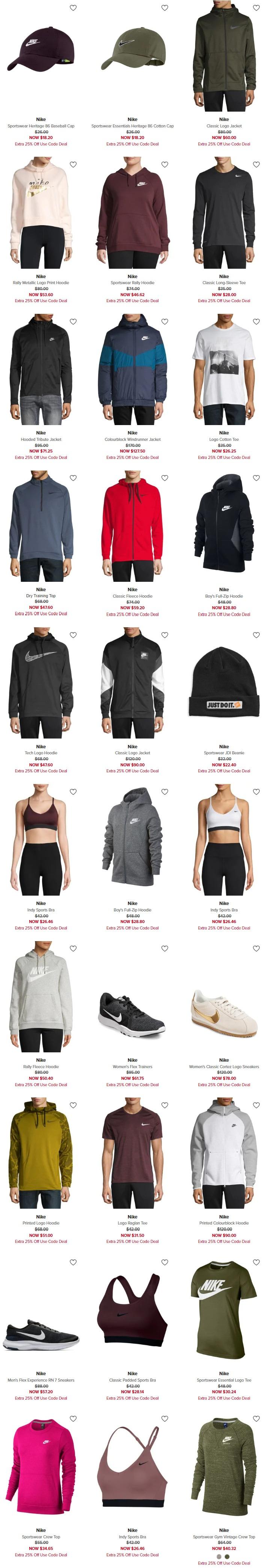 精选 Nike 耐克 成人儿童运动服饰、运动鞋5折起清仓+额外7.5折!