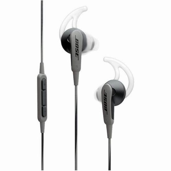Bose SoundSport 耳塞式运动耳机5.9折 59加元包邮!3色可选!