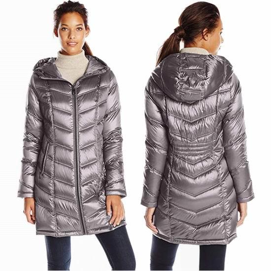 白菜价!Calvin Klein Chevron 女款中长修身羽绒服2.5折 62.48加元起包邮!多色可选!