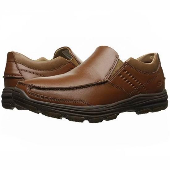 白菜价!Skechers 斯凯奇 USA Garton Messon 男式真皮一脚蹬 休闲鞋(7.5码)3折 30加元!