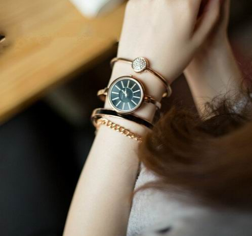 ANNE KLEIN AK/1470GBST 女士施华洛世奇水晶腕表套装 90.99加元,原价 225加元,包邮