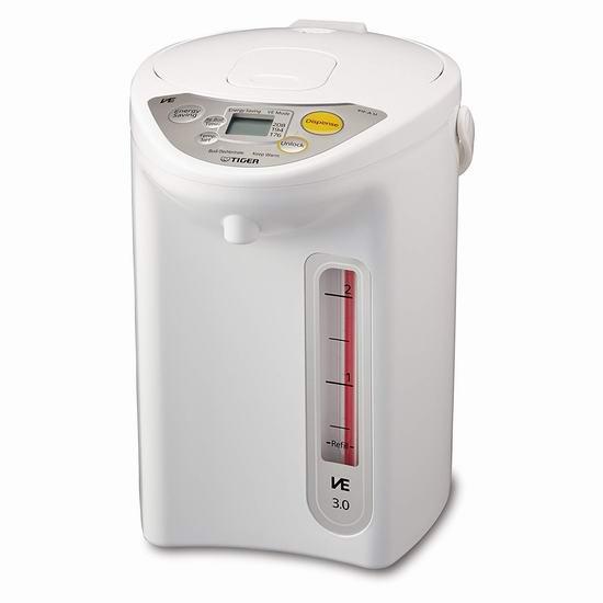 历史新低!Tiger 虎牌 PIF-A30U-WU VE Mincom 3升真空保温 电热水壶 130.98加元包邮!