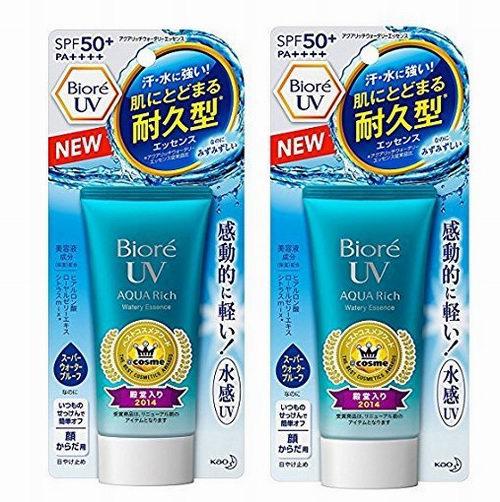 Biore UV Aqua 水凝系列 长效保湿防晒乳SPF50+/PA++++ 2件套 36.98加元+包邮!