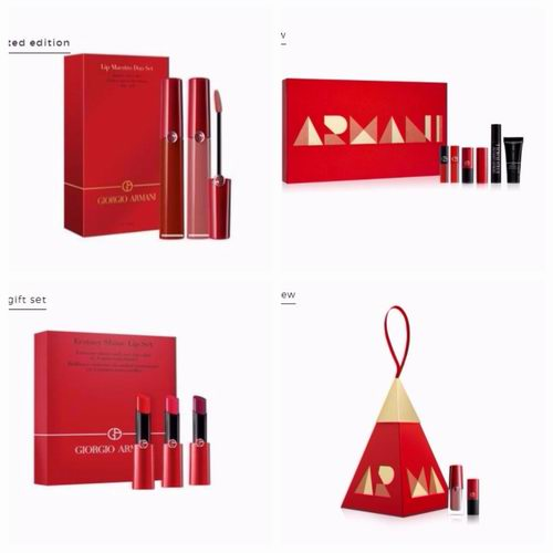 Giorgio Armani 限量款阿玛尼红管唇釉405+500套装 76加元热卖+满送红丝绒唇釉中样#400+化妆包!