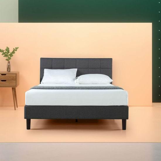 白菜价!历史新低!Zinus Twin 布艺软垫床头板+床架3.8折 159.37加元清仓并包邮!
