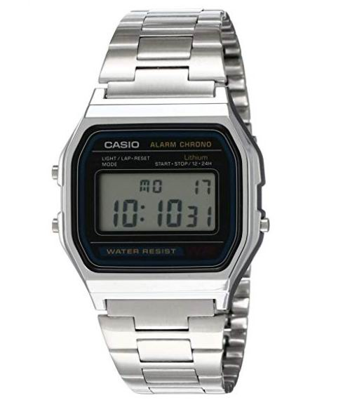 Casio 卡西欧 A158W-1 经典复古 军用小银表/电子表7.6折 22.72加元!