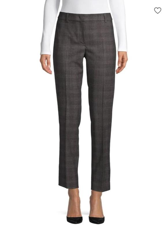 Weekend Max Mara Editta 格纹羊毛混纺裤装 124.5加元,原价 415加元,包邮