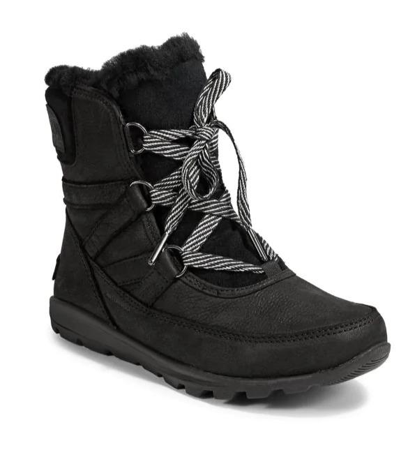 Sorel Whitney Short 女款雪地靴  黑色款 143加元,原价 220加元,包邮