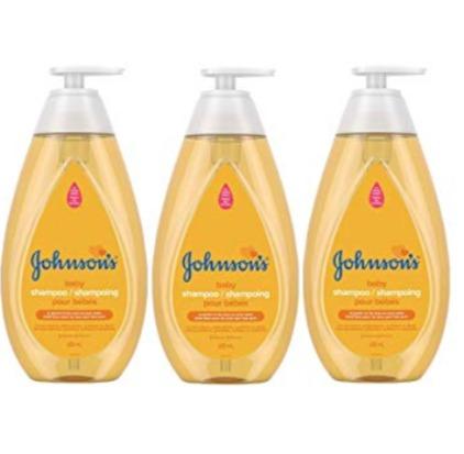 Johnson's 婴儿无泪配方洗发水 3x600毫升 17.07加元,原价 28.11加元