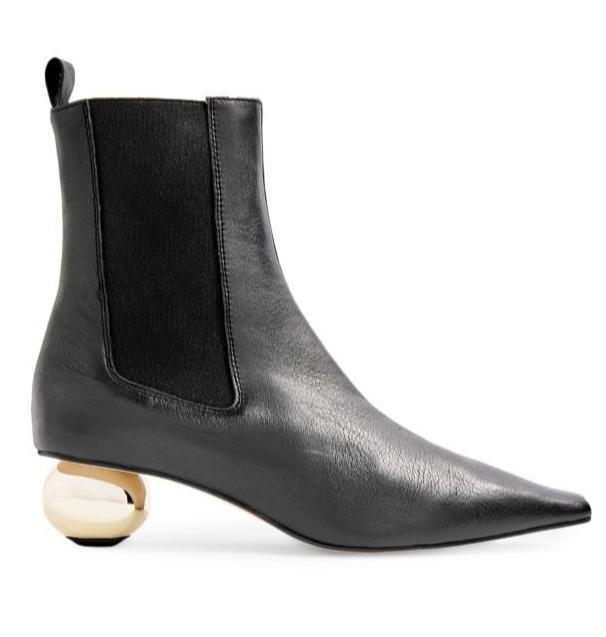 TOPSHOP Magician球形鞋跟尖头靴 70加元(6.5码),原价 175加元