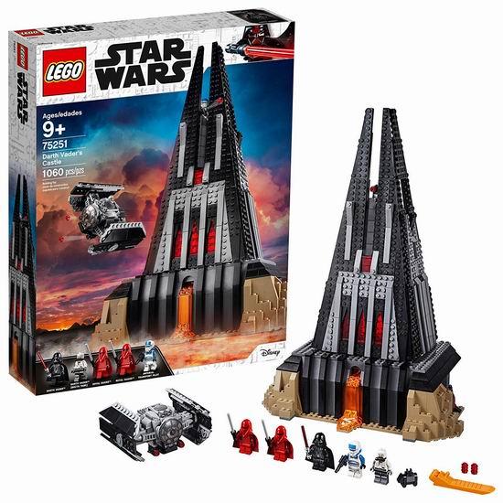 历史新低!LEGO 乐高 75251 星球大战系列 达斯-维达的城堡(1060pcs)6.4折 96.26加元包邮!