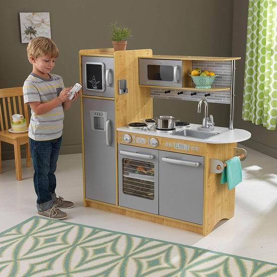 白菜速抢!历史新低!KidKraft 53298 Uptown 天然木纹 仿真儿童玩具厨房2.7折 105.98加元包邮!