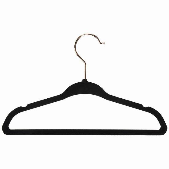 手慢无!历史新低!Closet Complete 71799 天鹅绒衣架50件套超值装3.5折 20.91加元!