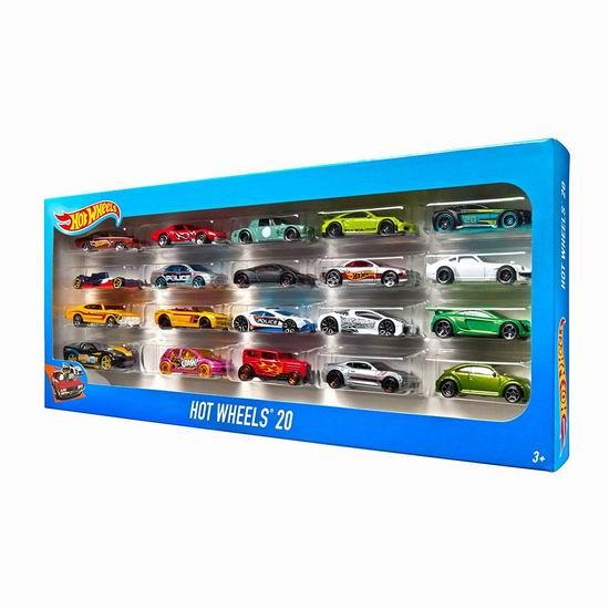 Hot Wheels 迷你玩具车20件套4.7折 19加元!