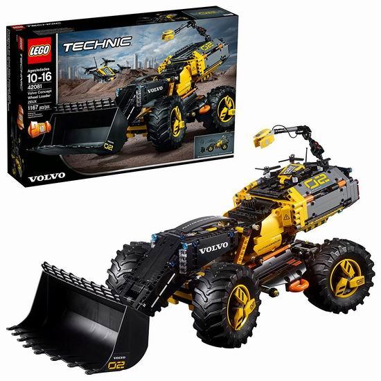 手慢无!历史新低!LEGO 乐高 42081 机械组 沃尔沃概念轮式装载机ZEUX(1167pcs)6折 107.99加元包邮!