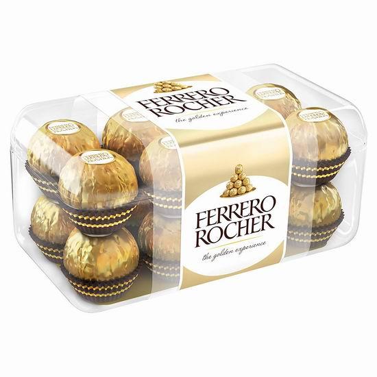 历史新低!Ferrero Rocher 费列罗 钻石礼盒装巧克力(16粒)2.8折 3.99加元清仓!