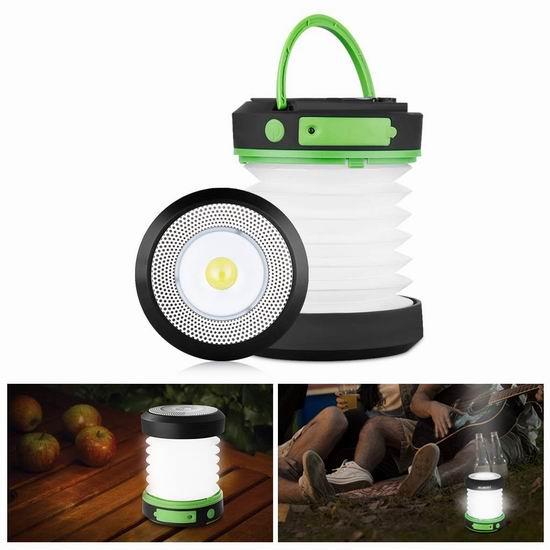历史新低!Suaoki 可充电 太阳能LED露营灯/应急灯 9.75加元清仓!