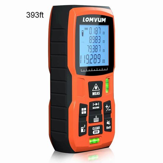 Lomvum 50米/120米 激光测距仪 22.49-30.99加元限量特卖并包邮!