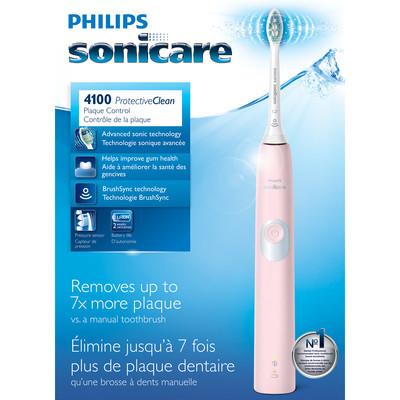 Philips 飞利浦 SONICARE ProtectiveClean 4100 粉红款 声波震动电动牙刷 69.99加元包邮!送价值70加元大礼包!