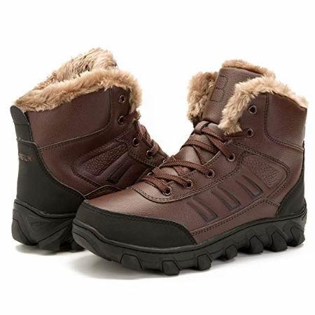 白菜价!历史新低!L-RUN 男式时尚人造毛保暖雪地靴2.3折 15.99加元清仓!6色可选!